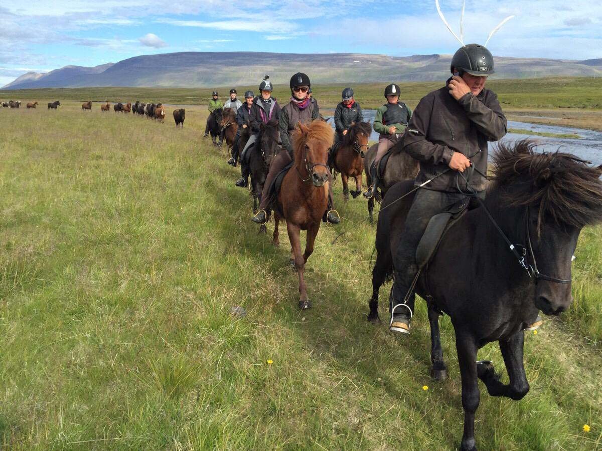 Første dag på rideturen på Island