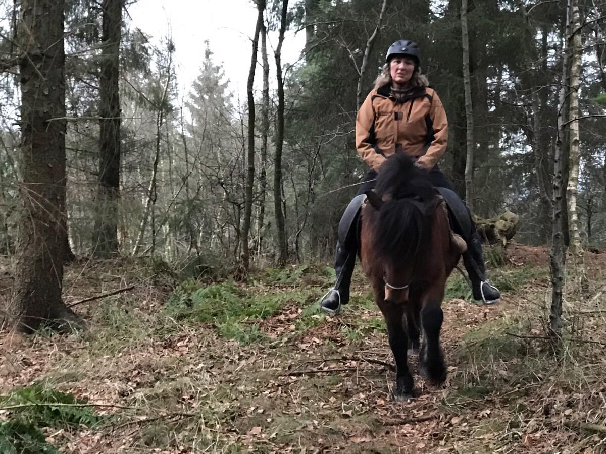 Ridetur på de nye stier