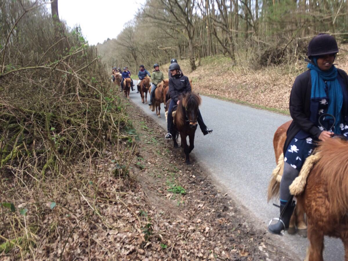En time på hesteryg i Østrup