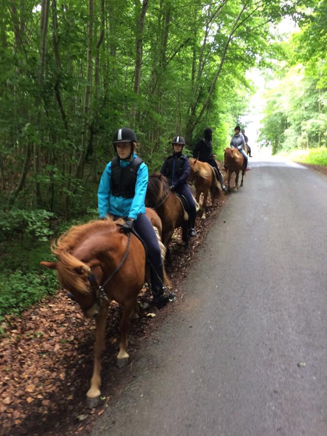 Ridelejrweekendens fredagstur