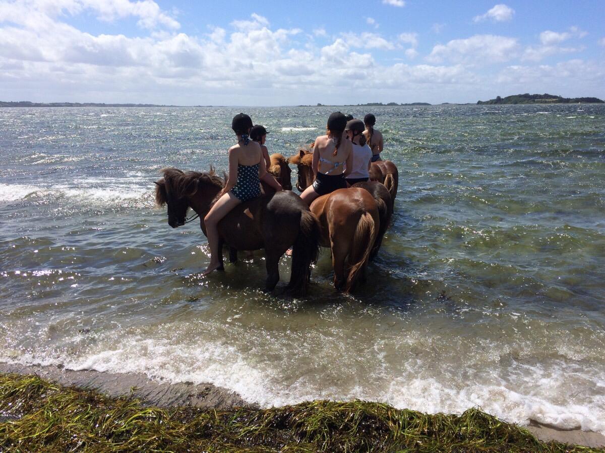 Ridelejrweekendens tur til stranden