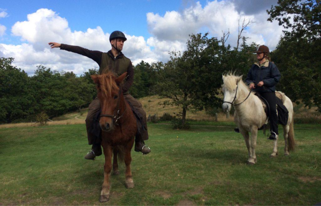 Museumsturen til hest gennem istidslandskabet, 20. september 2015
