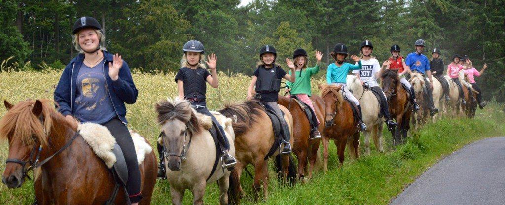 Tak til Lulle for dette fine billede fra ridelejren i uge 29.