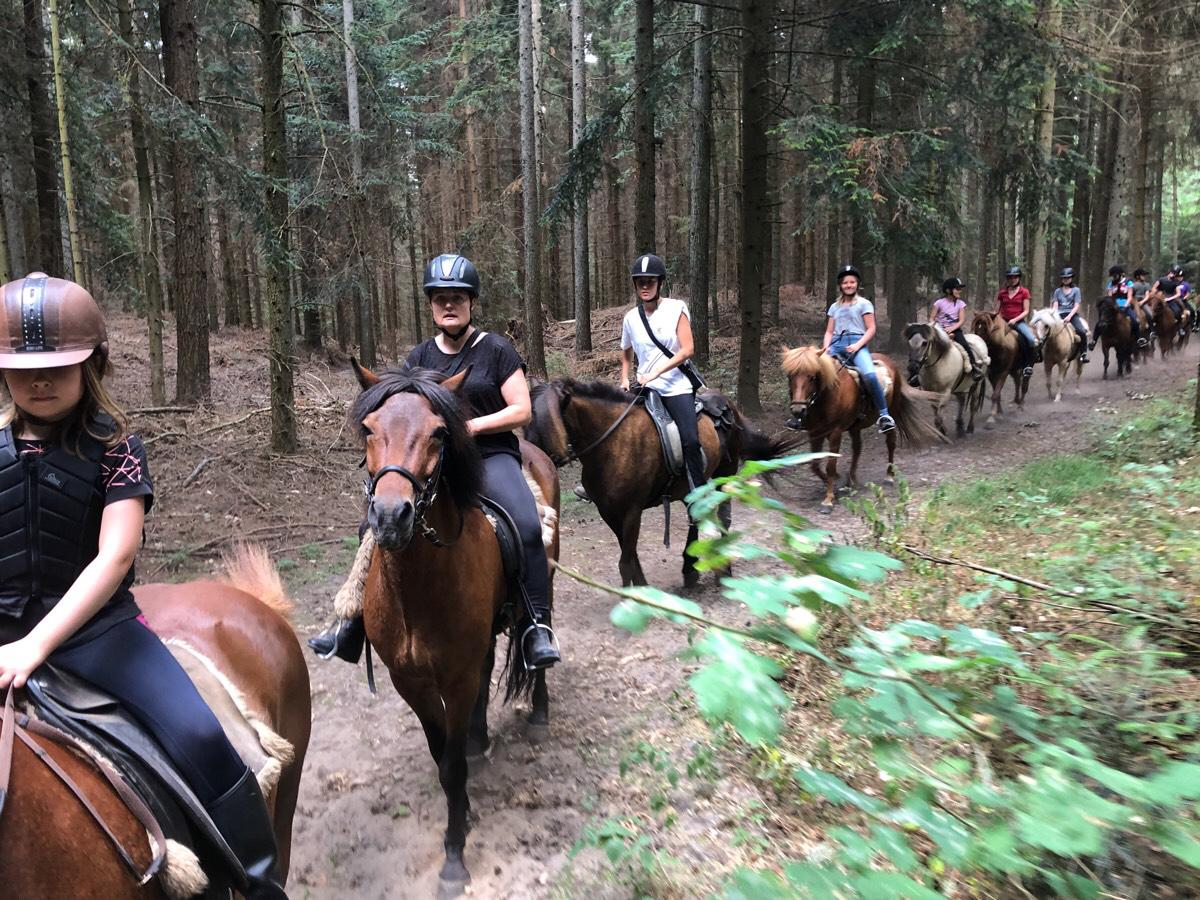 De første 2 ture på ridelejren i uge 29