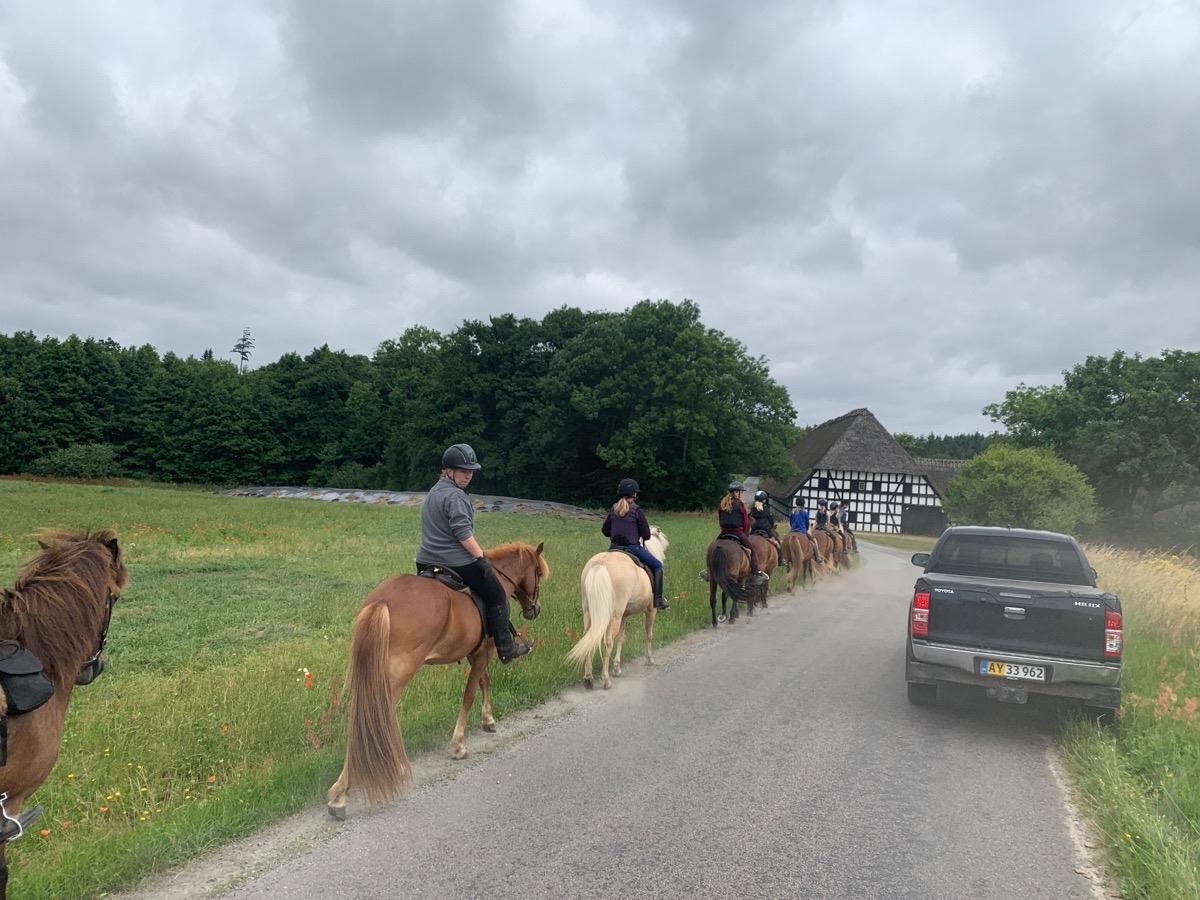 Første dag børne ridelejr uge 29