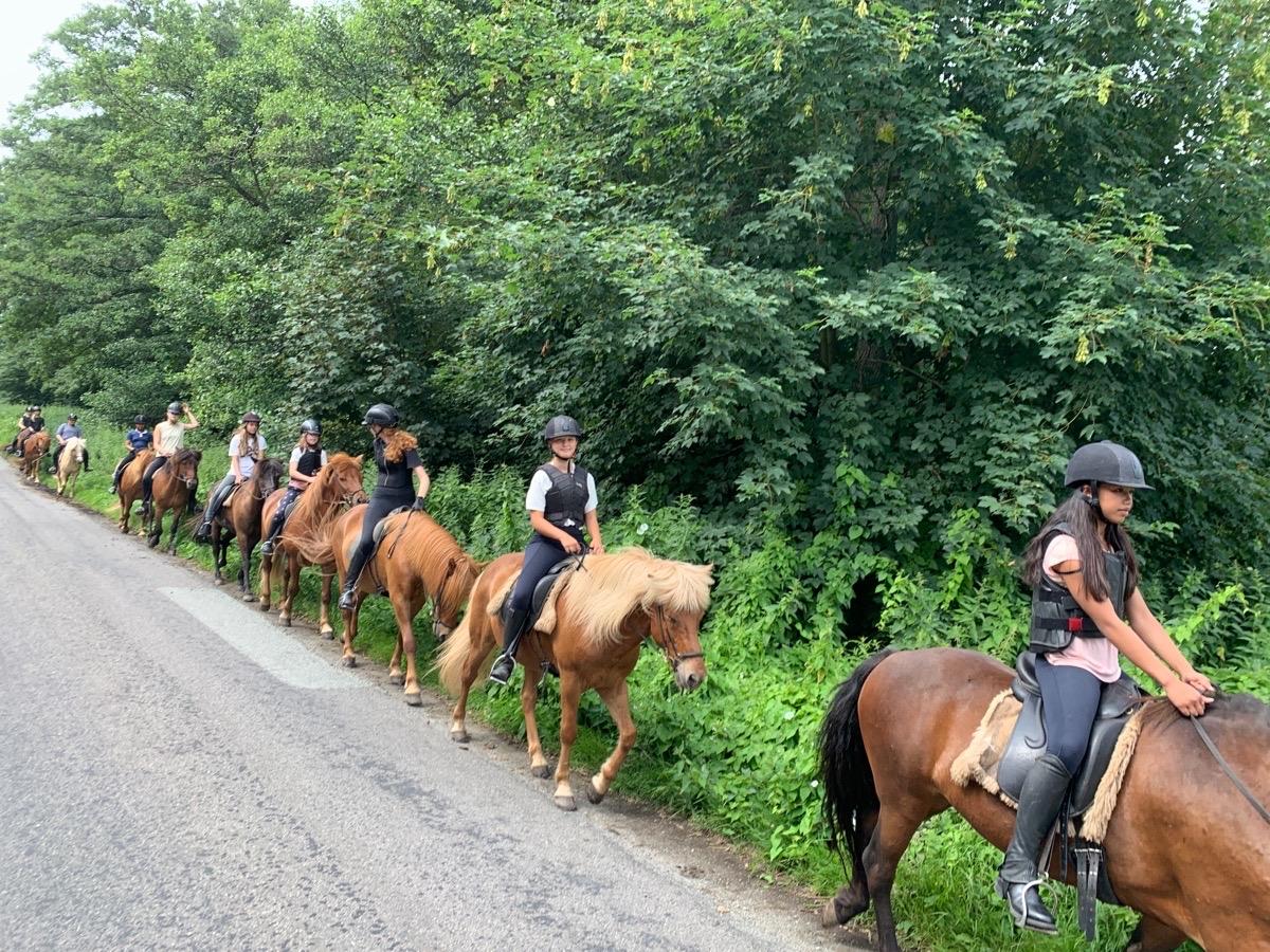 Første tur på børne ridelejr uge 30