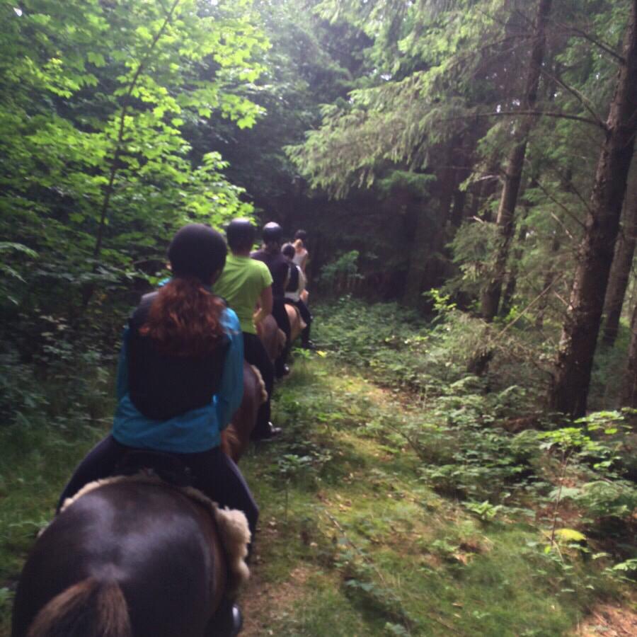 Første tur på ridelejrweekenden