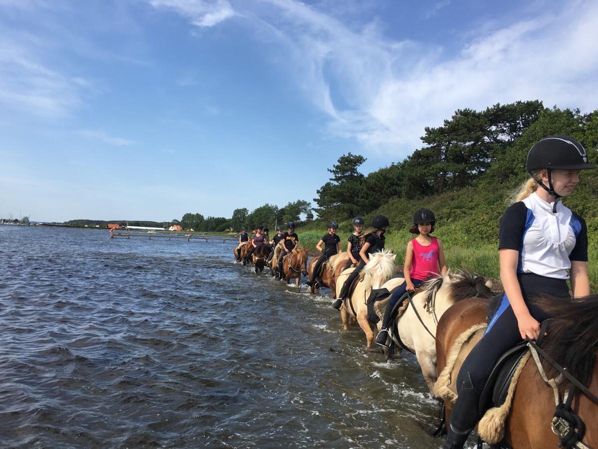 Strandturen med ridelejren