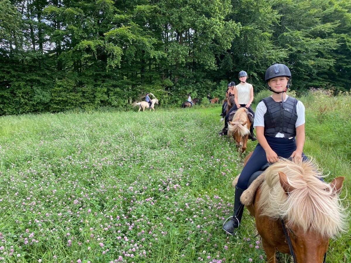 Første tur med ridelejr uge 30