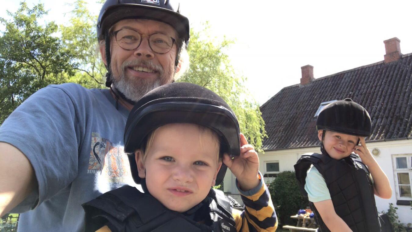 Ridetur med Kaj, Bertil og Louise