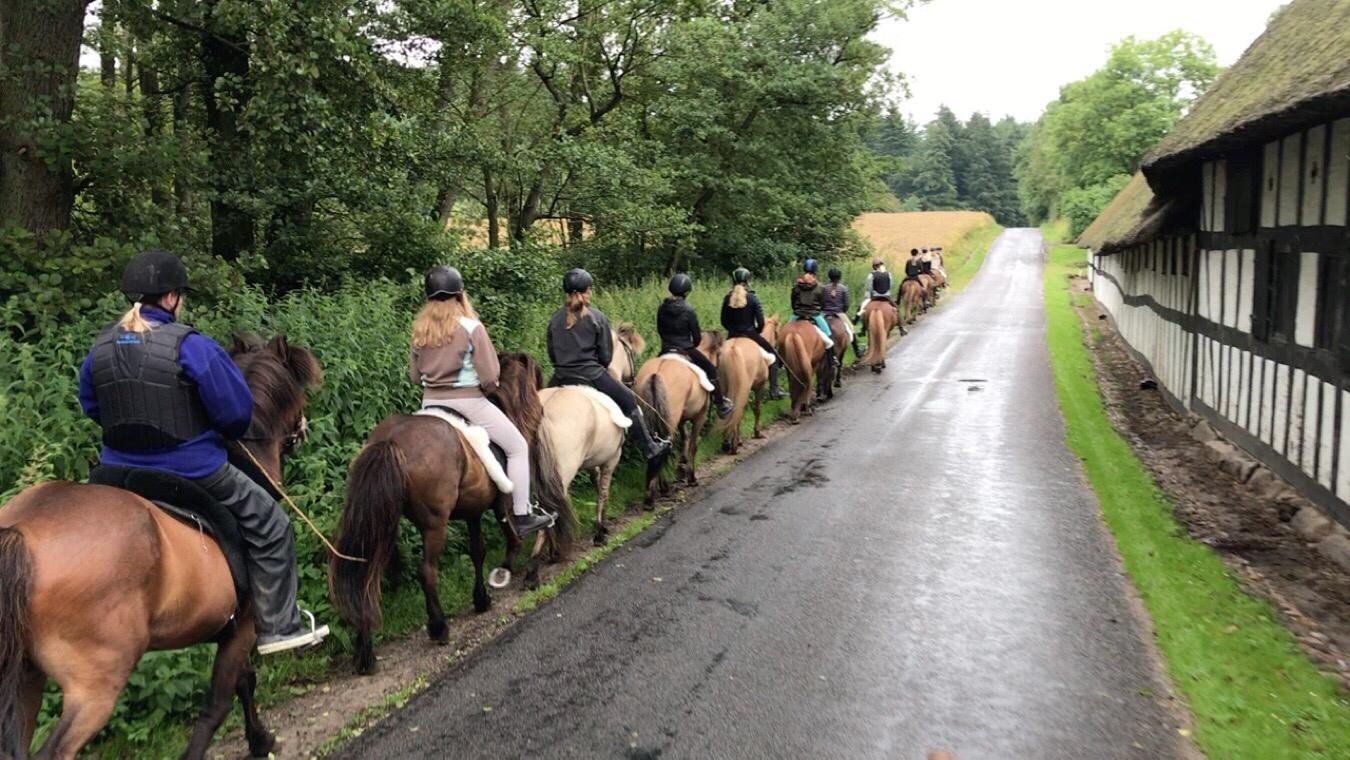 Video fra første tur på ridelejren i uge 30
