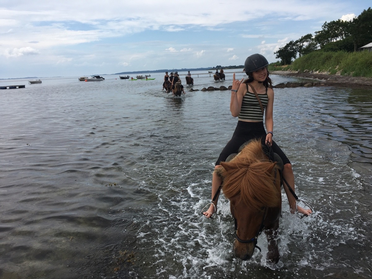Strandtur med ridelejeren uge 27